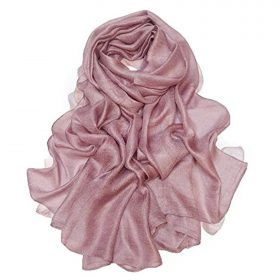 Bettli Womens Extra Large Scarf Shawl Wraps Pashminas Solid Soft Silky for Bridal Evening Wedding Party