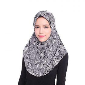 Daxin Muslim Women Inner Hijab Headscarf Cap Islamic Full Cover Islamic Hat