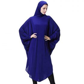 Fityle Arab Womens Full Cover Overhead Abaya Muslim Prayer Burqa Hijab Dubai Islamic Robe Dress