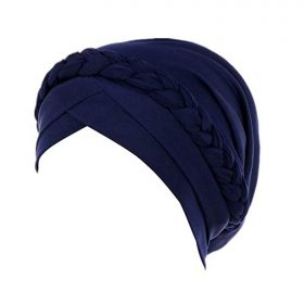 Fxhixiy Hijab Braid Silky Turban Hats for Women Cancer Chemo Beanies Cap Headwrap Headwear