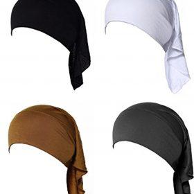 GladThink 4 X Womens Muslim Mini Inner Hijab Caps Underscarf