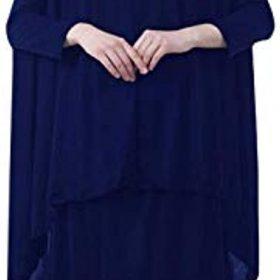 Queena Muslim Women's Two-piece Prayer Dress Hijab Scarf Full Length Islamic Abaya Set for Hajj Umrah