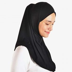 Silk Story One piece al amira Hijab Instant Head Scarf Cotton Jersey Practical HeadCover(M Size)