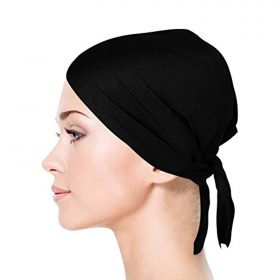 TheHijabStore.com Jersey Bonnet Caps Under Scarf Head Wraps for Women Turban Hat with Tie-Back Closure