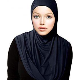 TheHijabStore.com Women's 2 Piece Amira Jersey Hijab - Soft Modal Stretch Head Scarf with Tube Under Scarf Cap